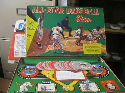 1964 Cadaco ALL STAR BASEBALL BOARD GAME Complete 62 MINT DISC Strong Semi-Punch