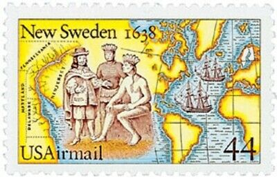 C117 - New Sweden - US Mint Airmail Stamp