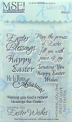 NEW My Sentiments Exactly Clear Stamps Y218 Easter Innies - Outies