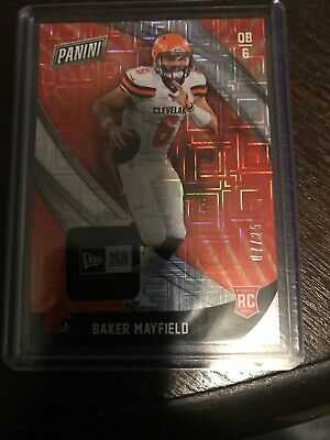 2018 Panini Black Friday Baker Mayfield New Era Patch 725 Rare Browns ROY