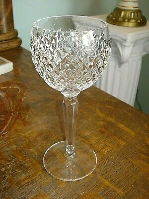 Beautiful Signed WATERFORD Crystal ALANA 7 12 in- Glass WINE HOCK Goblet