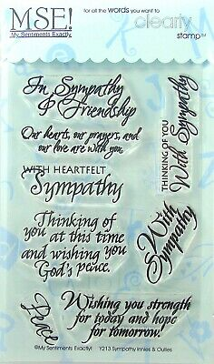 NEW My Sentiments Exactly Clear Stamps  Y213 Sympathy Innies - Outies