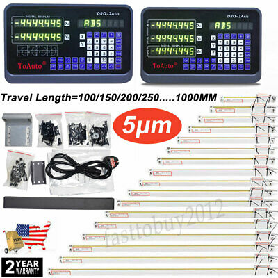 US 23Axis Digital Readout DRO Display Linear Scale Encoder for Bridgeport Mill