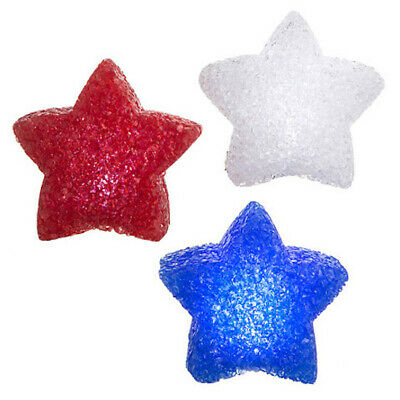 Patriotic 4th of July Red White Blue Star LED Lights Party Table Decorations