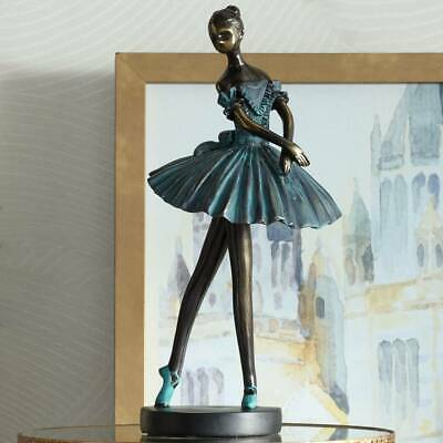 Ballerina 12 High Decorative Sculpture in Verde Bronze
