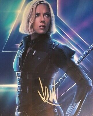 Scarlett Johansson Hand Signed 8x10 Photo WHolo COA Avengers