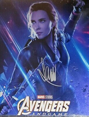 Scarlett Johansson Hand Signed 8x10 Photo wHolo COA Avengers Endgame