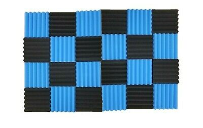 24pk 2 Wedge Acoustic Foam Tile Panel Soundproof Record Sound Absorbing Various