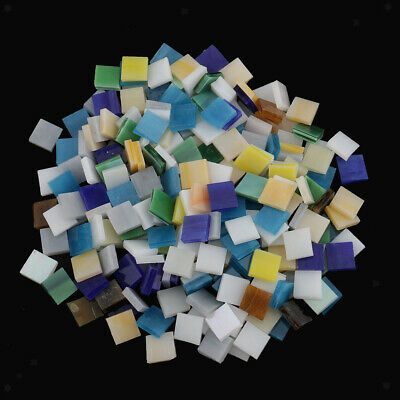 250 Pieces Vitreous Glass Mosaic Tiles for Arts DIY Crafts Multi-color
