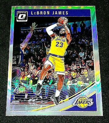 LEBRON JAMES 2018-19 Panini Optic SILVER HOLO PRIZM Parallel 94 Lakers