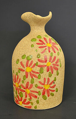 Hand Made - Hand Painted Pottery Vase 5 12 H x 3 14 W MDRC-1