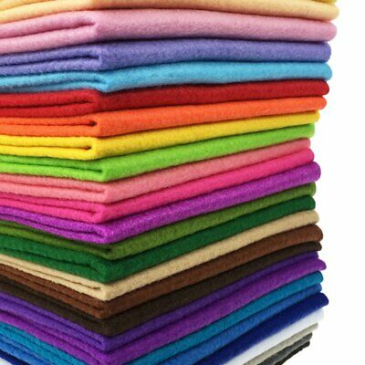 28pcs Soft Assorted Color Felt Fabric Sheet DIY Craft Sewing Squares Patchwork