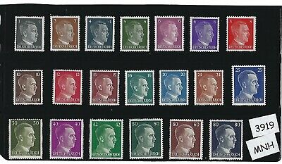 MNH stamp set  20 Adolph Hitler stamps  Third Reich  WWII Germany  1941-1944
