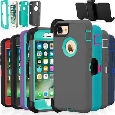 For iPhone 6 7 8 Plus XS MAX XR Shockproof Case Belt Clip Fits Otterbox Defender