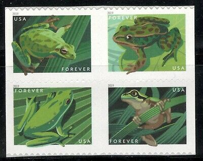 5395-5398 Frogs US Postage Block Of 4 Mintnh Free Shipping