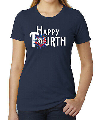 Happy fourth of July womens tops Ladies Independence Day shirts