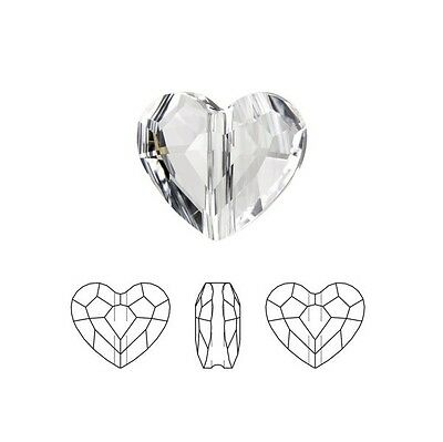 Swarovski Crystal Faceted Love Beads Heart 5741 Clear  8mm Package of 2