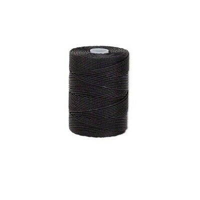 BLACK 0-5mm C-Lon nylon 3 ply twisted thread Macrame C-Lon nylon