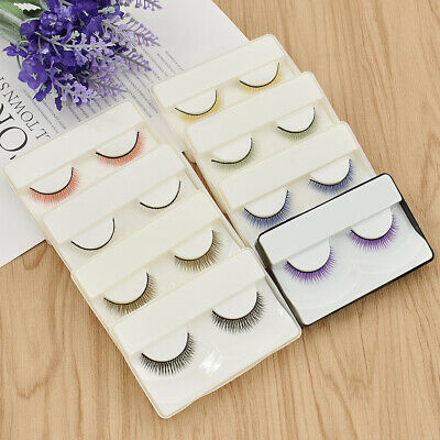 12 Pair Colorful False Eyelash Natural Dense BJD Doll Toy For Doll Accessory