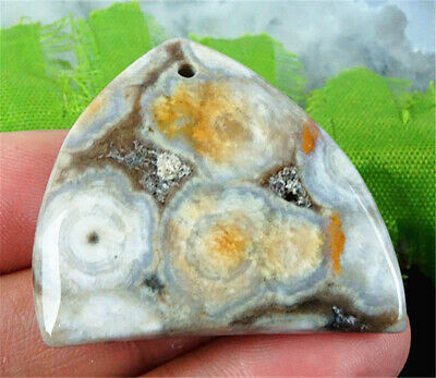DD6191 37x32x6mm Natural Old Orefield Ocean Jasper Freeform Pendant Bead