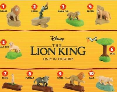 2019 McDONALDS THE LION KING HAPPY MEAL TOYS Choose Your character SHIPS NOW