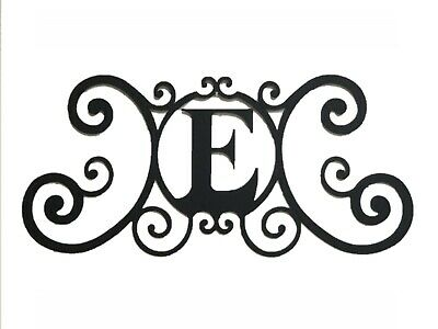 Iron Metal Letter E Personalized Initial Name Wall Art Decoration Minor Defect