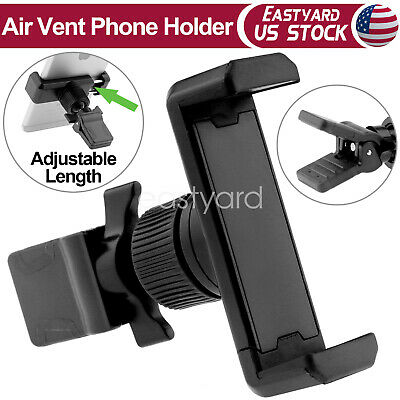 360° Rotating Car Cell Phone Holder Air Vent Mount Stand Cradle Holder GPS US