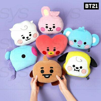 BTS BT21 Official Authentic Goods Baby Flat Face Cushion - Tracking Number