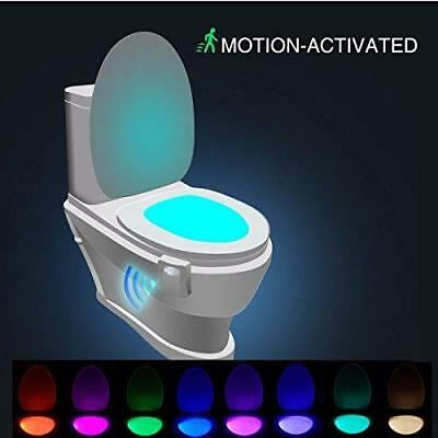 LED Motion 8-Color Sensing Automatic Activated Color Toilet Night Light Bathroom