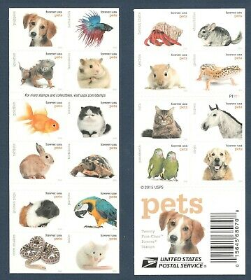 5106-5125 5125a Pets Booklet Of 20 Mintnh FREE SHIPPING