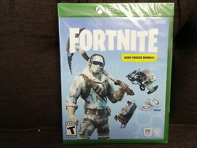 Fortnite Deep Freeze Bundle Game for Xbox One with 1000 V-Bucks 4K NEW