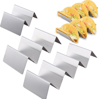Taco Shell Holder Tortilla Stand Rack Stainless Steel Tray Holds Kitchen 2019 K4