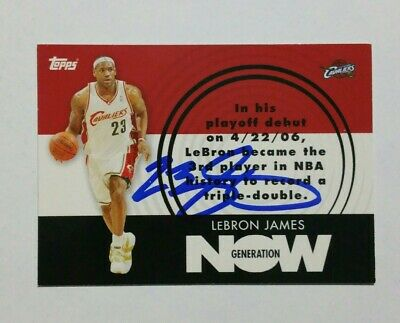 Lebron James Topps Generation Now hand signed Autograph Insert Card GN1 wCOA