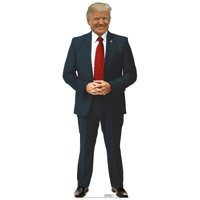 DONALD TRUMP President Lifesize CARDBOARD CUTOUT Standee Standup Poster Red Tie