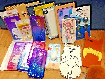 20 Cell Phone Accessories Mix Lot Phone Case Cover Cable Clip Screen Protectors