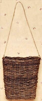 New Primitive Rustic Country GRAPEVINE TWIG WALL BASKET Hanging Vine Twig 7