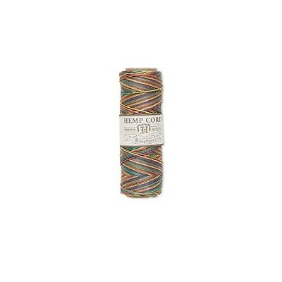 hemp cord hemptique 0-5mm 205 ft variegated rainbow