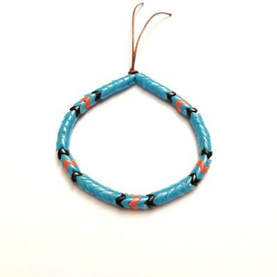 60 Glass Interlocking Snake Africa trade beads 6mm 6- Blue Black Red-