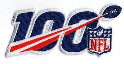 NFL 100th Anniversary of the NFL 5 Iron On Embroidered Patch FREE Ship