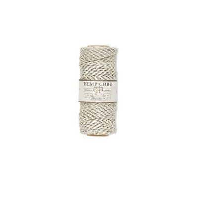 hemp cord hemptique 1mm Diameter  205 ft 62-48m metallic silver and natural
