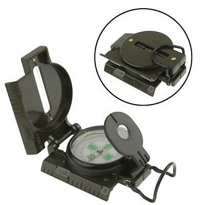 US Outdoor Lensatic Compass Military Camping Hiking Army Style Survival Marching