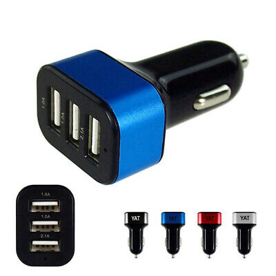 Wholesale10 Lot Triple 3-1A Car Charger Adapter Fast Charging USB Port Car Power