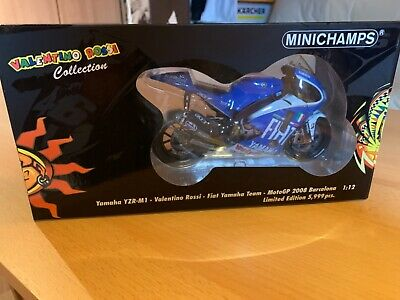 V.Rossi 1/12 minichamps Yamaha M1 barcelone 2008 très rare limited édition neuf