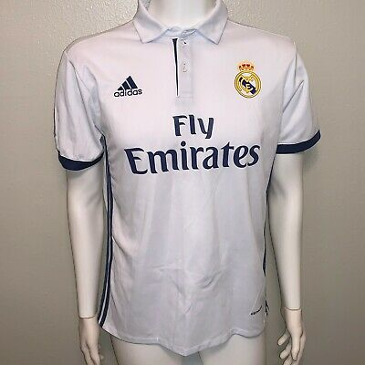 ADIDAS AUTHENTIC REAL MADRID 201617 HOME SOCCER JERSEY MENS MEDIUM
