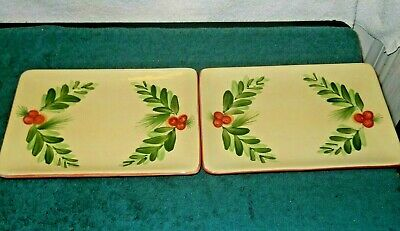 Southern Living at Home Gail Pittman Christmas Memories Appetizer Trays Set-2