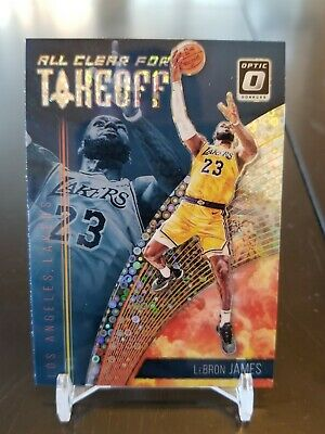 LEBRON JAMES 2018-19 Optic Fast Break Holo All Clear for Takeoff Insert Lakers