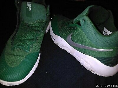 Nike Zoom REV Basketball Shoes Green 922048-300 Mens Size 10
