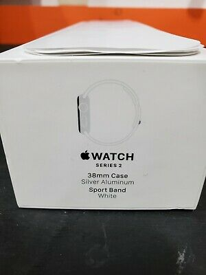Apple Watch Series 2   38mm Case Silver Aluminum Sport Band White