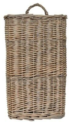 NEW Rustic Country Farmhouse Large Natural Willow Wicker Wall Basket