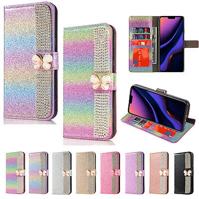 Bling Glitter Diamond Leather Flip Wallet Stand Case Cover For iPhone 11 Pro Max